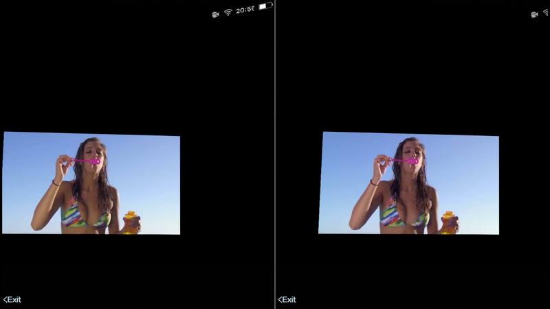 3D视频在VR眼镜中所呈现的样子