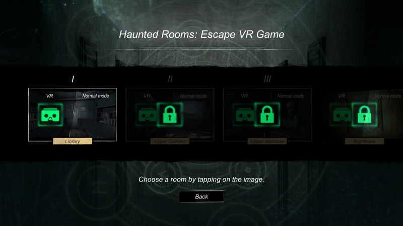 Haunted Rooms VR游戏界面