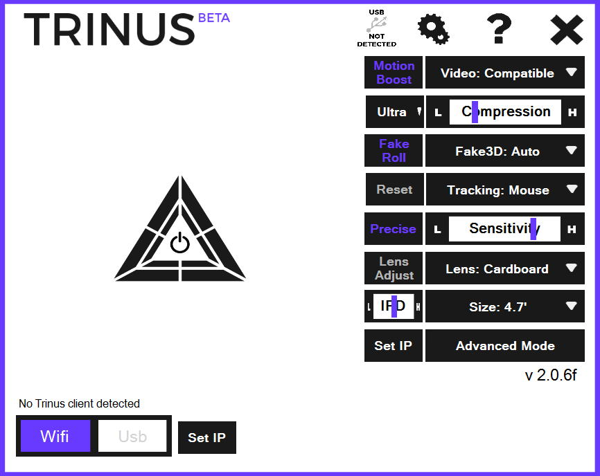 TrinusVR界面