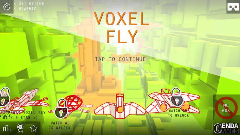VoxelFly 全屏游戏界面